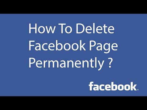 How To Delete Facebook Page Permanently ?