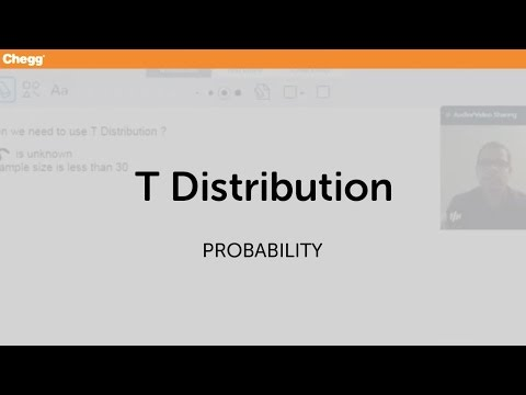 T Distribution | Statistics and Probability | Chegg Tutors