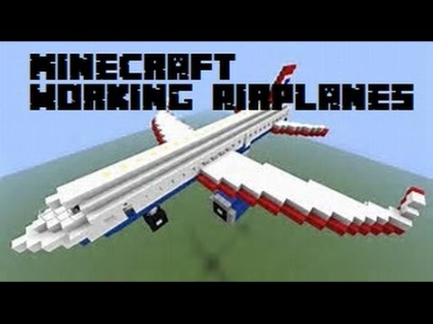 Minecraft - How to make working air planes (No Mods)