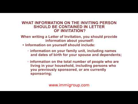 What information on the inviting person should be contained in Letter of Invitation?