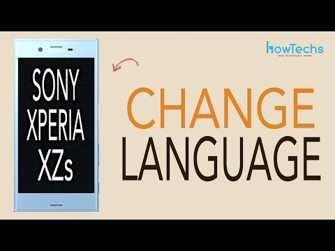 Sony Xperia XZs - How to Change Language