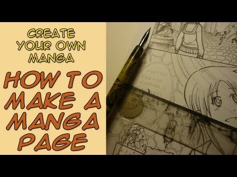 Create Your Own Manga - How to Make a Manga Page