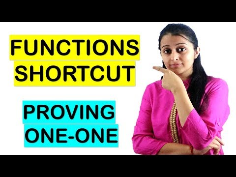 ONE-ONE/INJECTIVE FUNCTION SHORTCUT METHOD//FUNCTIONS SHORTCUT