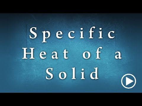 Specific Heat Of A Solid Edunovus Online Smart Practicals