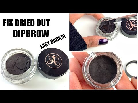 EASY BEAUTY HACK: Fix Your Dried out Eyebrow Pomade