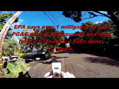 25 Milligauss at the street. Powerlines by my house.