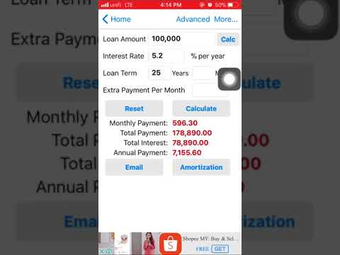 How to Calculate Loan/Finance via app EZ Calculator