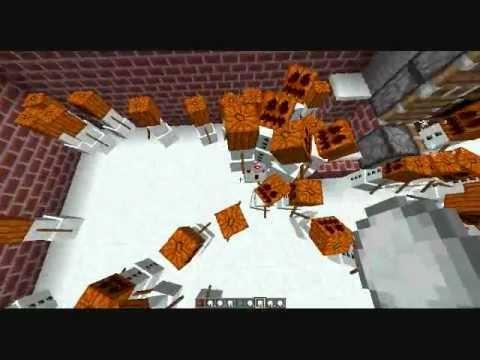 Minecraft snow golem factory