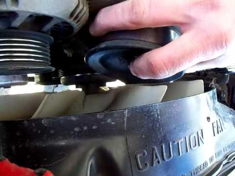 Replacing Serpentine Belt Ider Pulley 1994 Ford Ranger V.6 4.0 OHV (1)