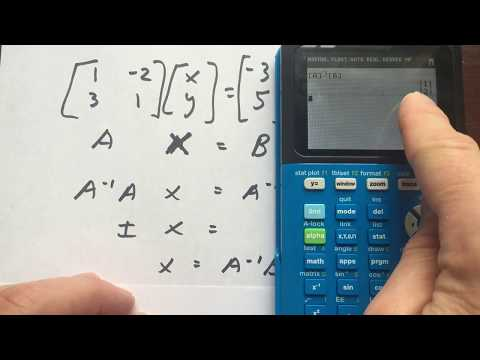 Matrices to Solve Linear Systems TI84 TI83