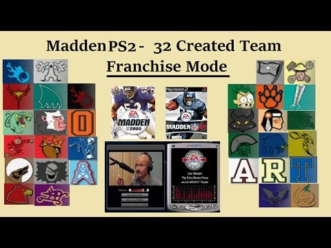 Madden PS2 - 32 Created Team Franchise Mode!
