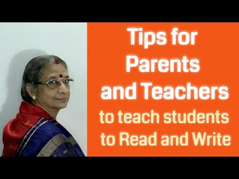 How to teach kids to read & write by Bhanumathy K in Tamil