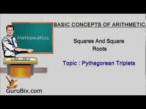 Pythagorean triplets - Squares and square roots - Math Lessons