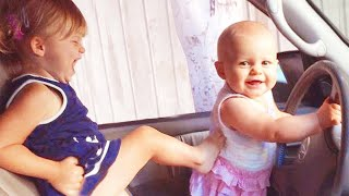 Funny Baby Siblings Playing Together - Funny Baby Videos