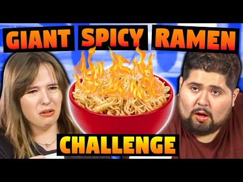 GIANT SPICY RAMEN CHALLENGE!