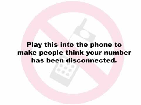 Disconnected Phone Message - Stop Telemarketers!
