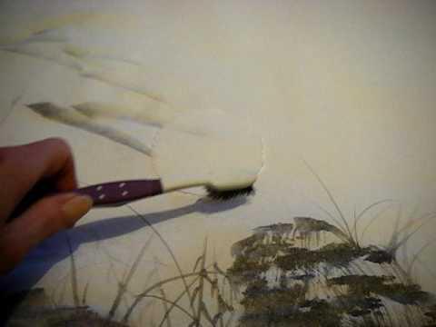 Japanese Brush painting: sun & moon shadows