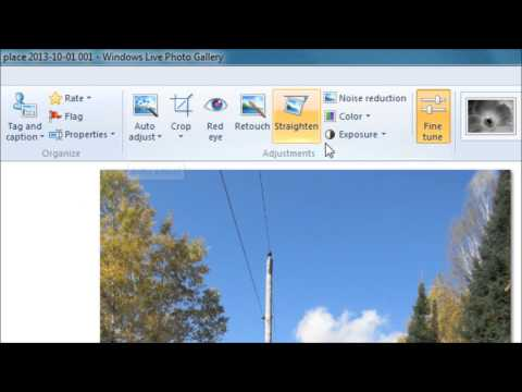 Windows Live Photo Gallery Photo editing tutorial