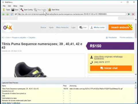 Scraping phone numbers as images from olx.com.br using WebHarvy