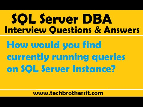 How would you find currently running queries on SQL Server Instance