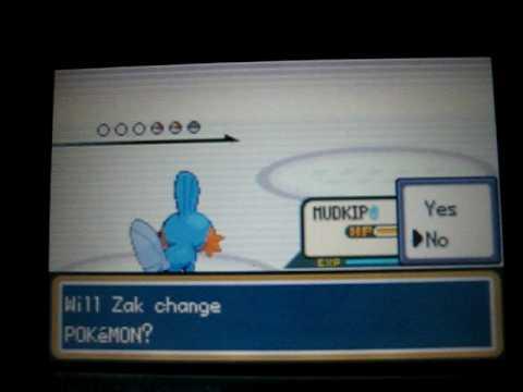 Pokemon Shiny Gold on Psp - Rival Silver 2nd Battle