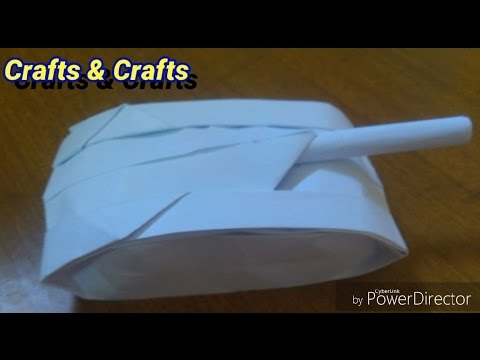 TUTORIAL#3 HOW TO MAKE A PAPER TANK (step by step)