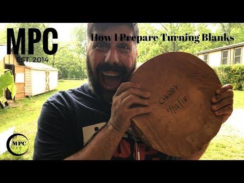How I Prepare Turning Blanks