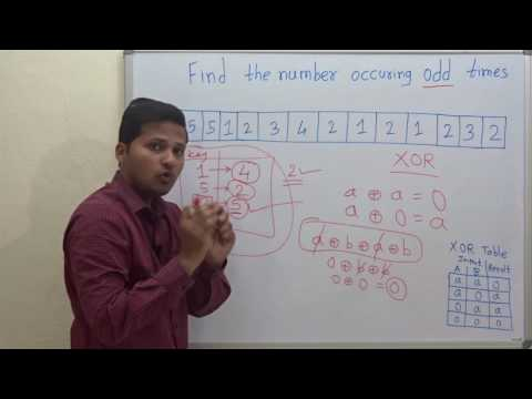 Find the number which occurs odd number of times in an Array