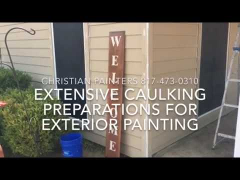 Extensive Caulking Preparations For Exterior Painting