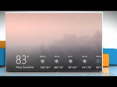 How to set location in the Windows® 8 Weather app