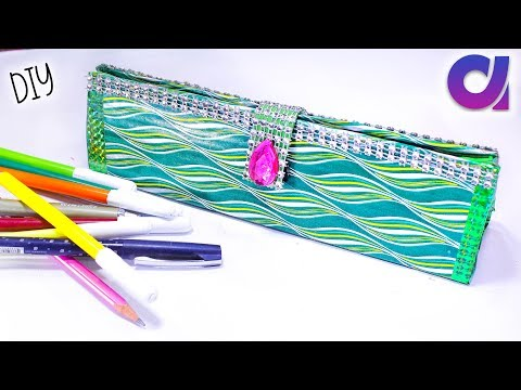 how to make a pencil box from waste cardboard | Best out of waste | Artkala 236