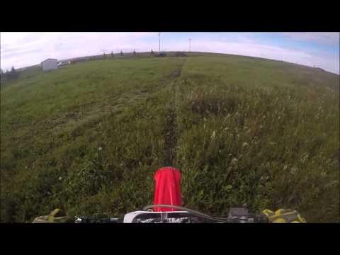 FMX backyard dirt bike jumps