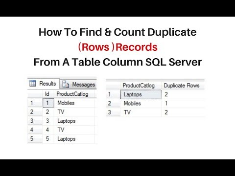 find duplicate records in sql server 2012 column get count of rows