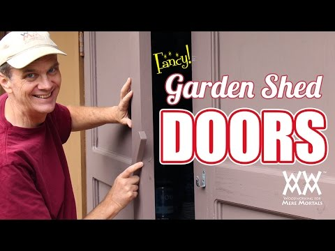 Make Your Own Garden Shed Doors for under $100.