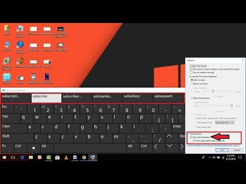How to Enable Text Prediction In On Screen Keyboard in Windows 10