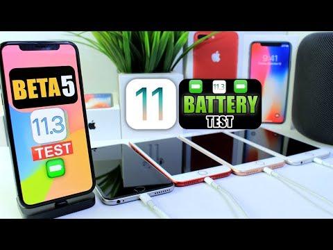iOS 11.3 Beta 5 Vs iOS 11.3 Beta 4 BATTERY TEST 🔋 It's looking Good
