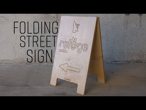 How To Make A Folding Street Sign   Easel Pro