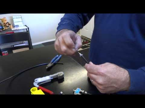 How to make Coax RG6 cables, DIsh Network & Directv Install