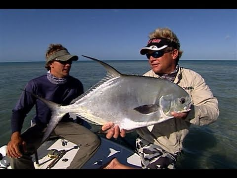 Permit Fly Fishing in the Marquesas Islands Flats off Key West Florida