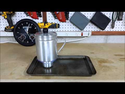 Groove stove boil test