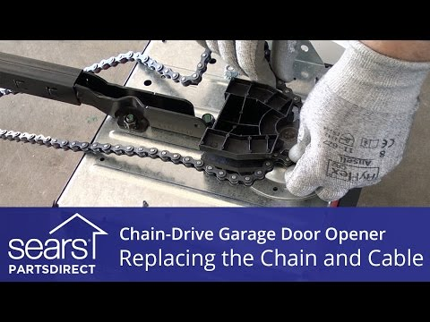 Replacing the Chain and Cable Assembly on a Chain-Drive Garage Door Opener