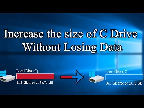 how to increases the size of C drive in windows 10 without losing data