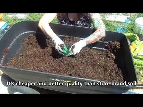 How I make my own potting soil mix-HD 05/2016