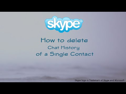 How to Delete a Single Contact Chat History in Skype. Resolved!