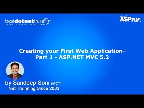 Create your First .NET MVC 5.2 Web Application -Video 1 - MVC Tutorial