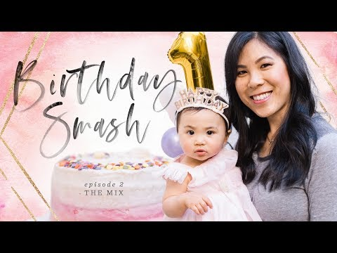 Birthday SMASH Cake, Photo Banner & Macarons 🎂THE MIX: Episode 2