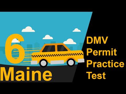 Maine DMV Permit Practice Test 6 -  2018