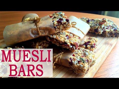 ✿ How to make MUESLI BARS | Super Healthy Recipe | Homemade granola