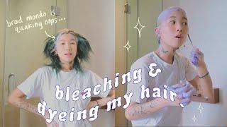 impulsively bleaching & dyeing my hair lol