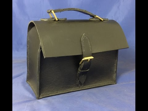 How to make a Leather Handbag - based on a lunch bag